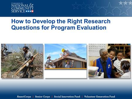 How to Develop the Right Research Questions for Program Evaluation