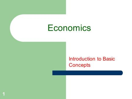 Introduction to Basic Concepts