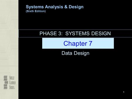 PHASE 3: SYSTEMS DESIGN Chapter 7 Data Design.