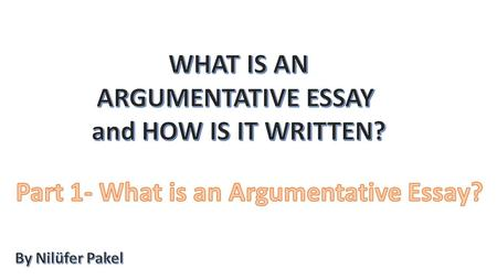Definition: «An argumentative essay is a type of writing that requires a writer to defend a position on a topic using evidence from personal experience,