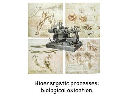 Bioenergetic processes: biological oxidation.. Metabolism - the entire network of chemical reactions carried out by living cells. Metabolism also includes.