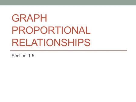 Graph proportional relationships