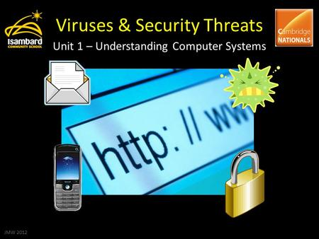 Viruses & Security Threats Unit 1 – Understanding Computer Systems JMW 2012.