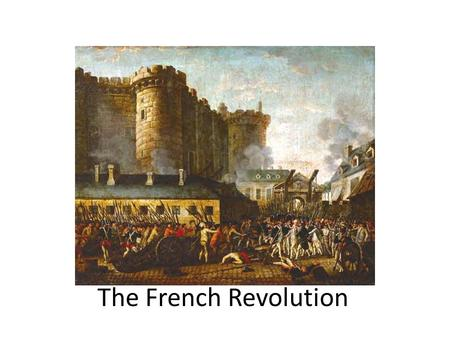 "The French Revolution. Absolutism Absolute monarchs didn't share power with a counsel or parliament ""Divine Right of Kings"" King James I of England."