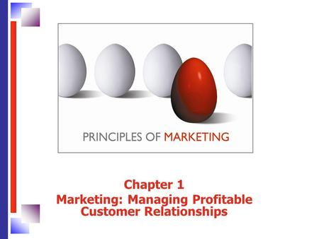 Chapter 1 Marketing: Managing Profitable Customer Relationships