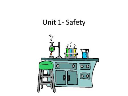 Unit 1- Safety.