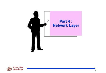 1 Kyung Hee University Part 4 : Network Layer. 2 Kyung Hee University Role and Position of Network Layer o Network layer in the Internet model is responsible.