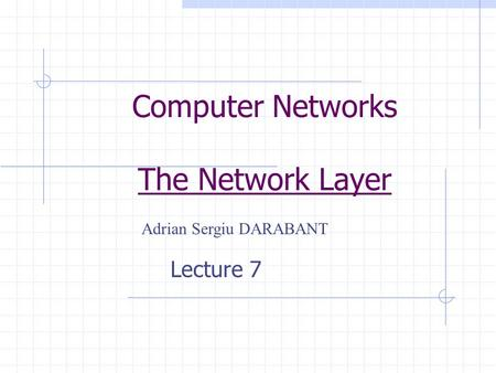Computer Networks The Network Layer