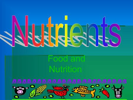 Nutrients Food and Nutrition.