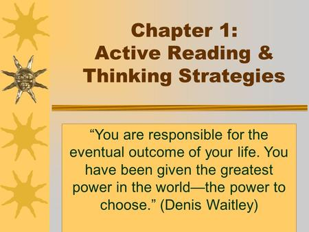 Chapter 1: Active Reading & Thinking Strategies