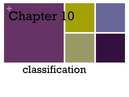 + Chapter 10 classification. + Sec 1: Classification: Sorting it All Out Classification – the arrangement of organisms into orderly groups based on their.