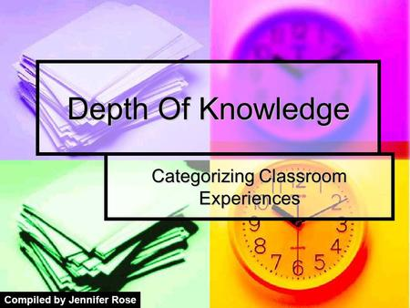 Categorizing Classroom Experiences