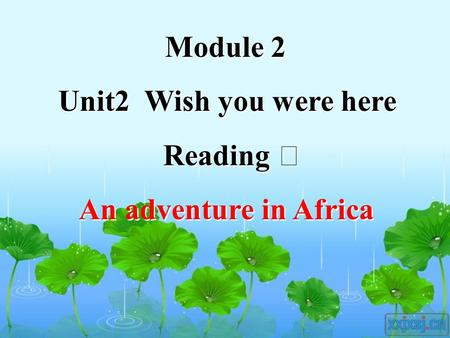 Module 2 Unit2 Wish you were here Reading Ⅰ An adventure in Africa Module 2 Unit2 Wish you were here Reading Ⅰ An adventure in Africa.