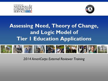 2014 AmeriCorps External Reviewer Training