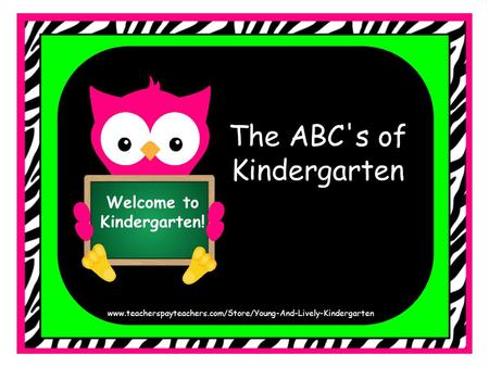 Welcome to <strong>Kindergarten</strong>! The ABCs of <strong>Kindergarten</strong> www.teacherspayteachers.com/Store/Young-And-Lively-<strong>Kindergarten</strong>.