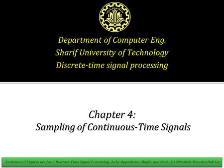 Chapter 4: Sampling of Continuous-Time Signals