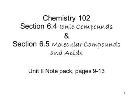 Unit II Note pack, pages 9-13