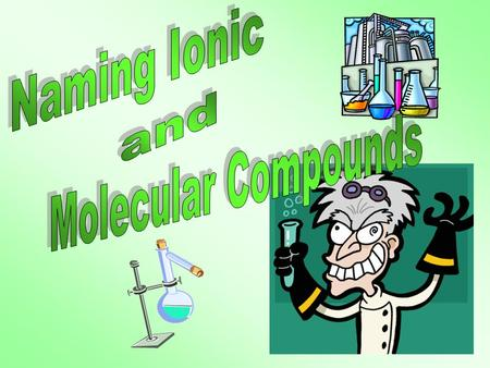 Naming Ionic and Molecular Compounds.