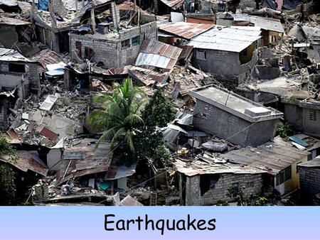 Earthquakes. Earthquake Terms An earthquake is a trembling of the Earth caused by a sudden release of energy stored in subsurface rock units (on the Moon.