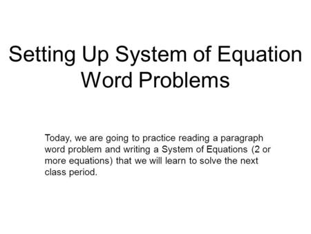 3 6 problem solving using charts 3 ppt download setting up system of equation word problems ibookread Download