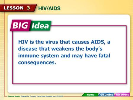 HIV is the virus that causes AIDS, a disease that weakens the body's immune system and may have fatal consequences.