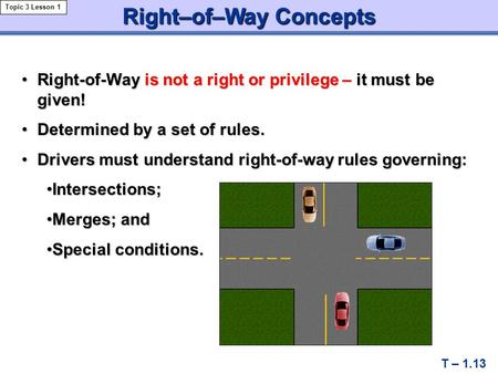 Right–of–Way Concepts