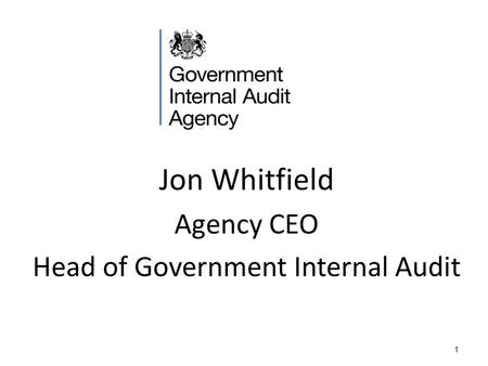 1 Jon Whitfield Agency CEO Head of Government Internal Audit.