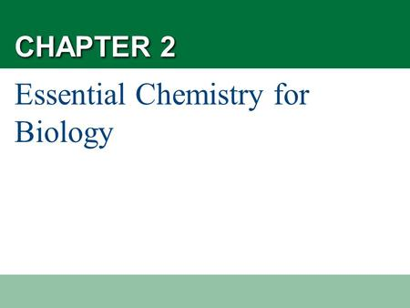 Essential Chemistry for Biology