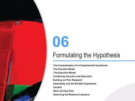 The Characteristics of an Experimental Hypothesis