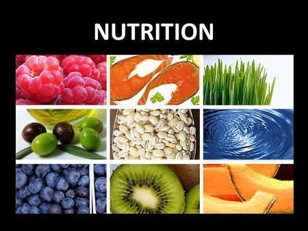NUTRITION. Macronutrients & Micronutrients Carbohydrates Fibre Proteins Fats Water Vitamins Minerals.