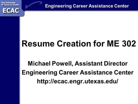 engineering career assistance center resume creation for me 302