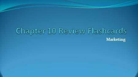 Chapter 10 Review Flashcards