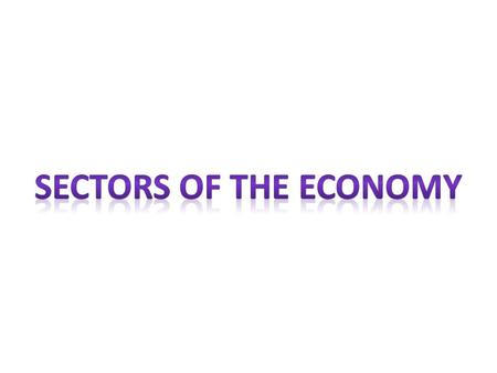 Sectors of the Economy.