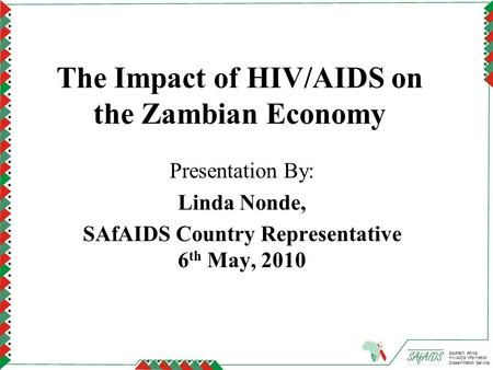 The Impact of HIV/AIDS on the Zambian Economy