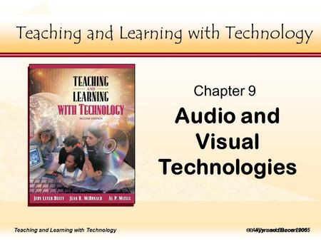 Teaching and Learning with Technology Click to edit Master title style  Allyn and Bacon 2002 Teaching and Learning with Technology Click to edit Master.