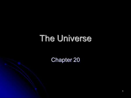 The Universe Chapter 20.