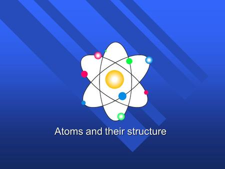Atoms and their structure History of the atom n Not the history of atom, but the idea of the atom n Original idea Ancient Greece (400 B.C..) n Democritus.