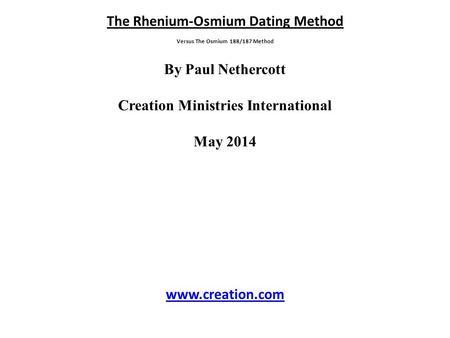 Rhenium osmium dating games