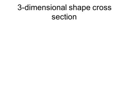 3-dimensional shape cross section. 3-dimensional space.