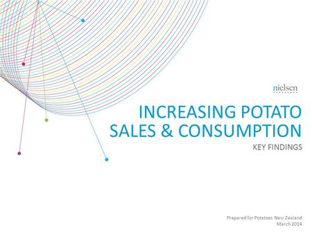 Prepared for Potatoes New Zealand March 2014 INCREASING POTATO SALES & CONSUMPTION KEY FINDINGS.