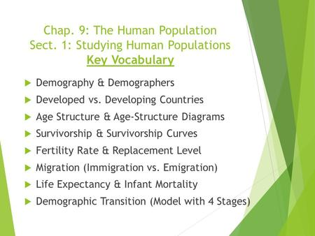 Chap. 9: The Human Population Sect