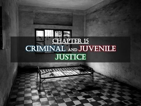 Chapter 15 Criminal and juvenile justice