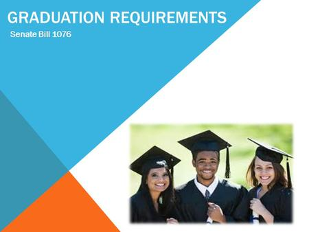 GRADUATION REQUIREMENTS Senate Bill 1076. COLLEGE & CAREER READINESS Department of School Counseling Cynthia Park, Director Ralph Aiello, Coordinator.