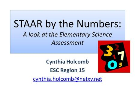 STAAR by the Numbers: A look at the Elementary Science Assessment