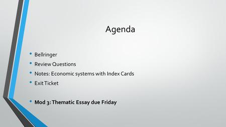thematic essay economic system Essay theme and task  belief systems #1 - theme: there are a variety of belief systems practiced throughout the world   features of the economic system.