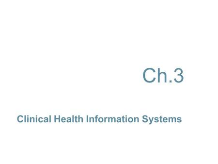 Clinical Health Information Systems Ch.3. P RETEST (T RUE /F ALSE ) A patient who has surgery at an ambulatory care facility is required to remain overnight.