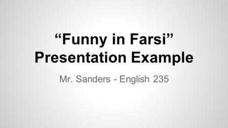 funny in farsi analysis The funny in farsi community note includes chapter-by-chapter summary and analysis, character list, theme list, historical context, author biography and quizzes written by community these papers were written primarily by students and provide critical analysis of funny in farsi by firoozeh dumas.