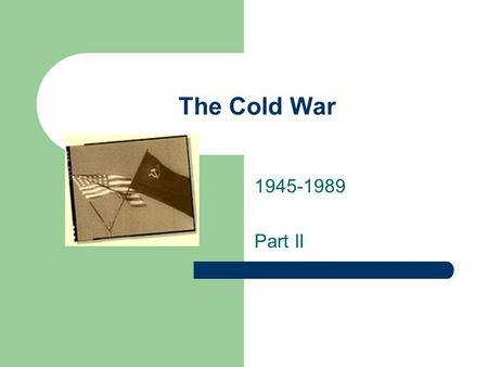 The Cold War 1945-1989 Part II. JFK John F. Kennedy is elected president in 1960 – Senator from Massachusetts Youngest and glamorous Wife was Jackie,