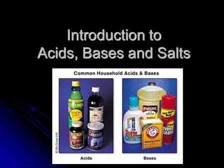 Introduction to <strong>Acids</strong>, <strong>Bases</strong> and Salts. Arrhenius Definition of <strong>Acids</strong> and <strong>Bases</strong> <strong>Acids</strong> produce H + in aqueous (water) solutions <strong>Acids</strong> produce H + in aqueous.