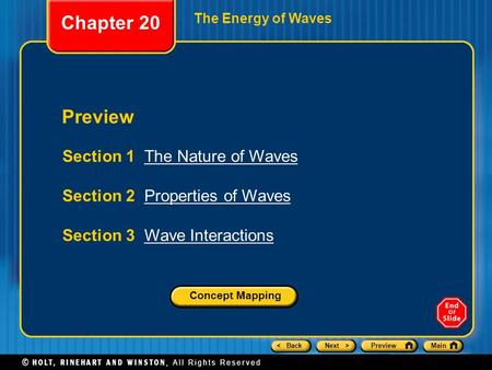 Chapter 20 Preview Section 1 The Nature of Waves